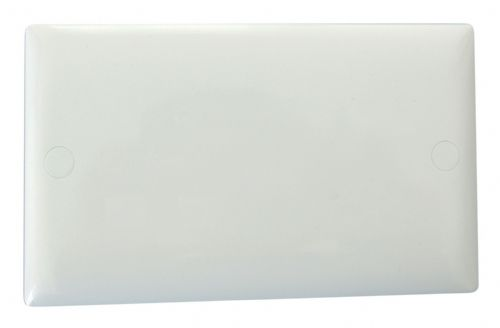 Varilight XODB Value Polar White 2 Gang Double Blank Plate
